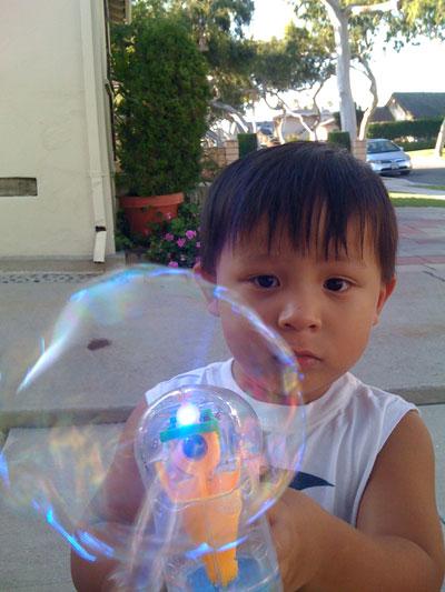 greg and his bubblegun
